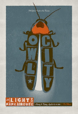 Owl City + Lights. Love this poster!