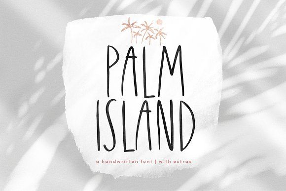 Palm Island Font With Extras Palm Island Lettering Fonts