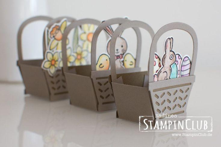 Osterkörbchen Ferrero Küsschen Verpackung - StampinClub
