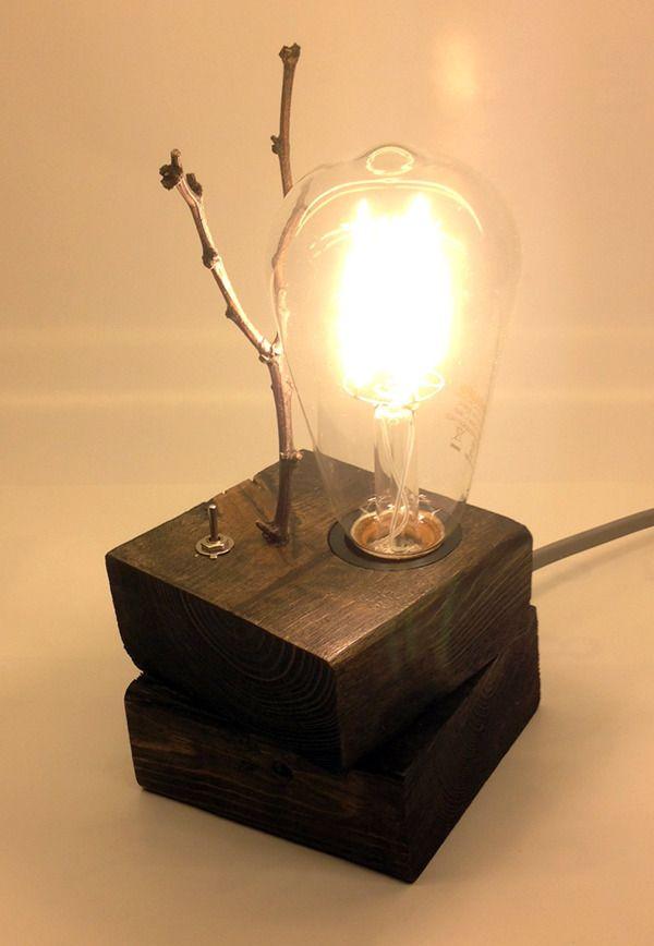 다음정류장 :: Wood block Lights _ 흠집 많은 투바이포 우드 블럭 라이트 _ LED조명 _ DIY