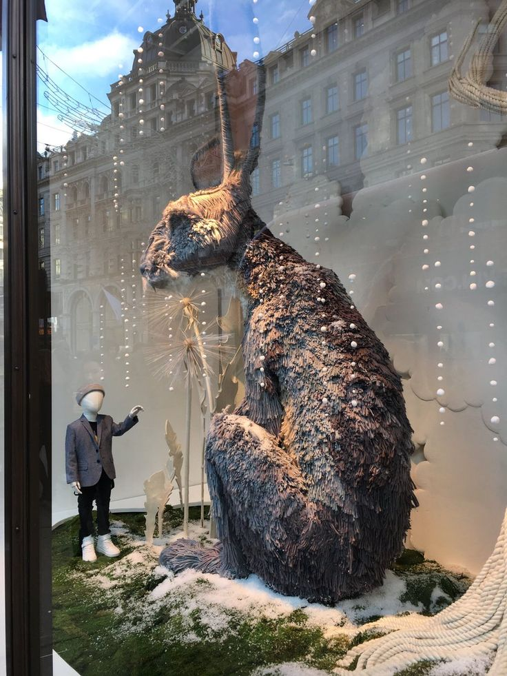 "H&M, HENNES&MAURITZ, Regent Street, London, UK, ""Listen Mr. Rabbit ... about Christmas, you're going to get through this okay"", pinned by Ton van der Veer"
