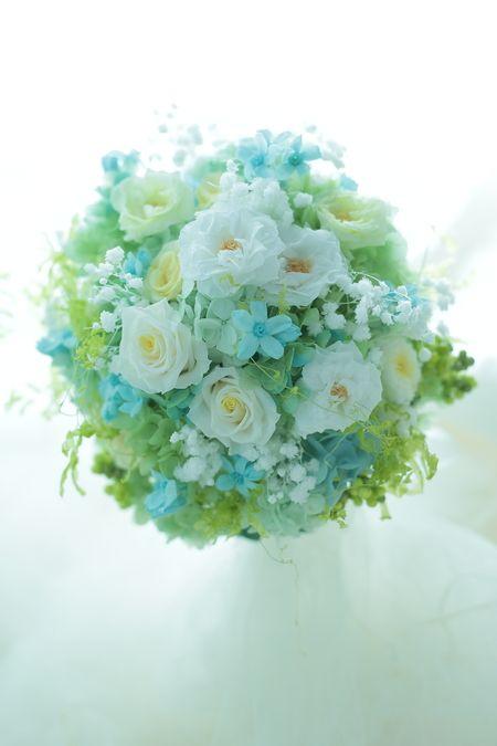 プリザーブドブーケ 横浜小さな結婚式さまへの画像:一会 ウエディングの花