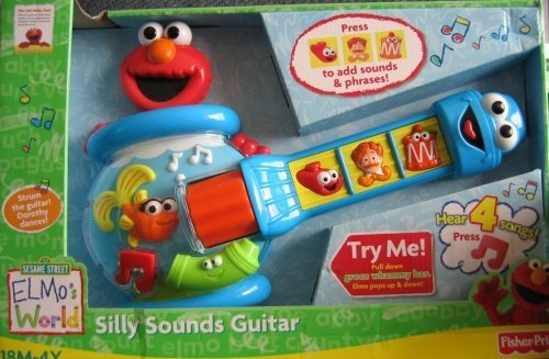 SESAME STREET ELMO'S WORLD SILLY SOUNDS GUITAR PLAYS ELMO'S WORLD SONG 2008 MINT IN BOX