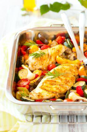 Rosemary Chicken and Veggie Tray Bake