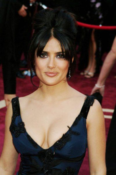 BEST: Salma Hayek looked smoldering, going for a dramatic, smoky-eye/nude lips look, and sweeping her dark hair back into an updo in 2005.