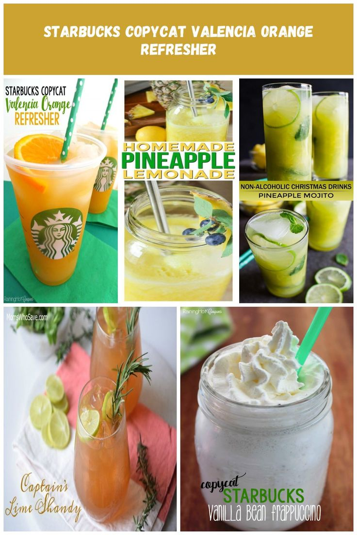 Starbucks Copycat Valencia Orange Refresher – Here's a delicious drink recip…   – beauty-ideas