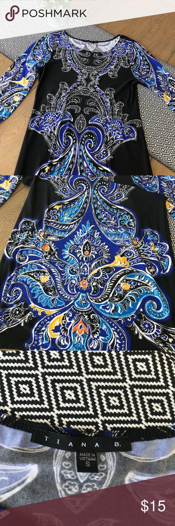 Tiana B Print Dress Beautiful Tiana B Dress. Sleeves are 3/4 length Tiana B Dresses