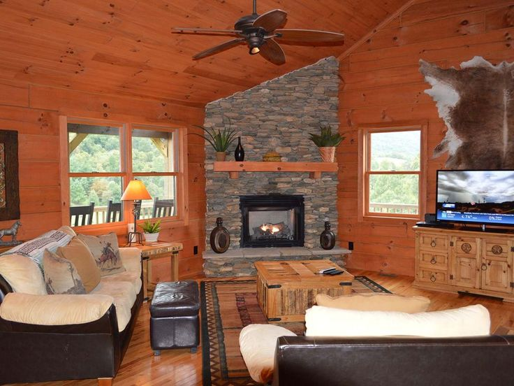 Enjoy the peace and awe-inspiring qualities of the Blue Ridge Mountains from this beautiful 3-level cabin