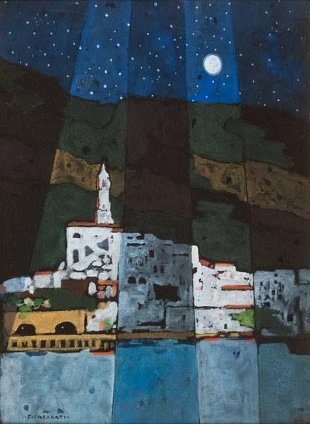 Felice Casorati - Notturno di Amalfi