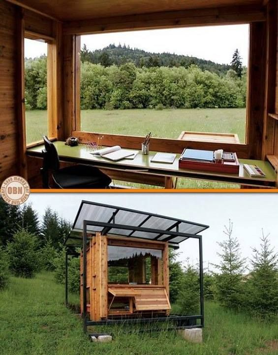 This gorgeous office is an off-the-grid writer's retreat that architect Erin Moore designed for her mother, nature writer Kathleen Dean Moore.