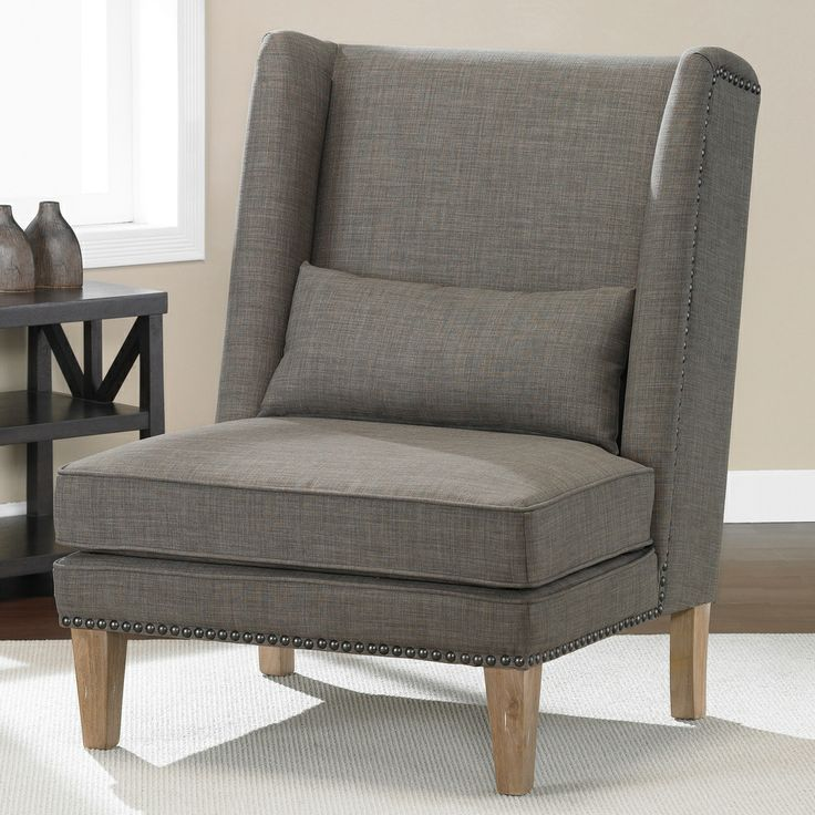 Wing Chair Brown Derby Living Room