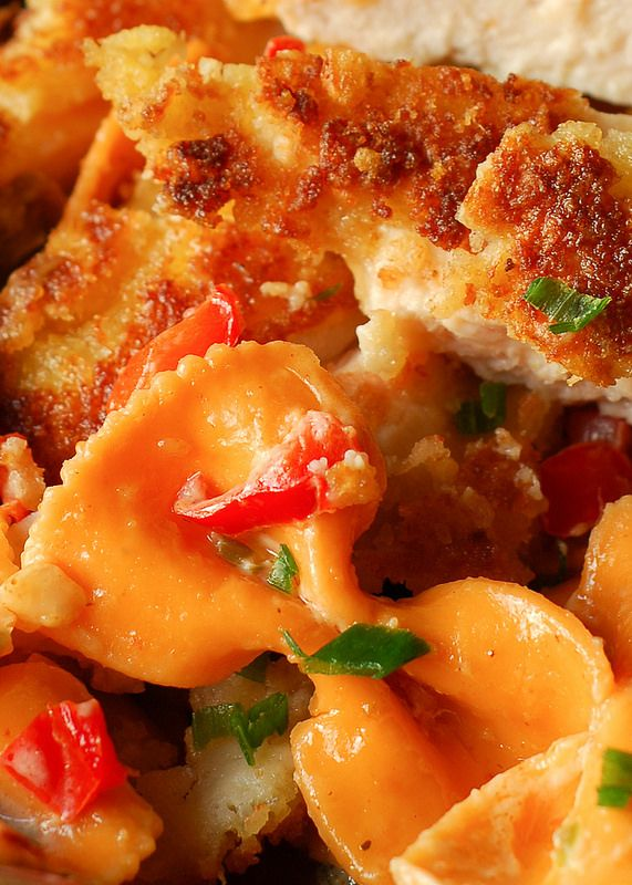 Louisiana Chicken Pasta - Parmesan Crusted Chicken in a Spicy New Orleans Sauce  - Cheesecake Factory copycat recipe