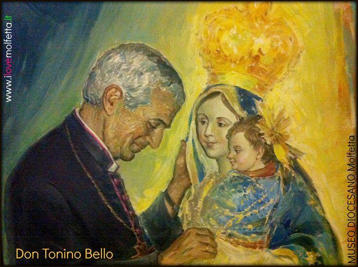 painting: Madonna dei Martiri with Don Tonino Bello  Museo Diocesano Molfettawww.ilovemolfetta.it