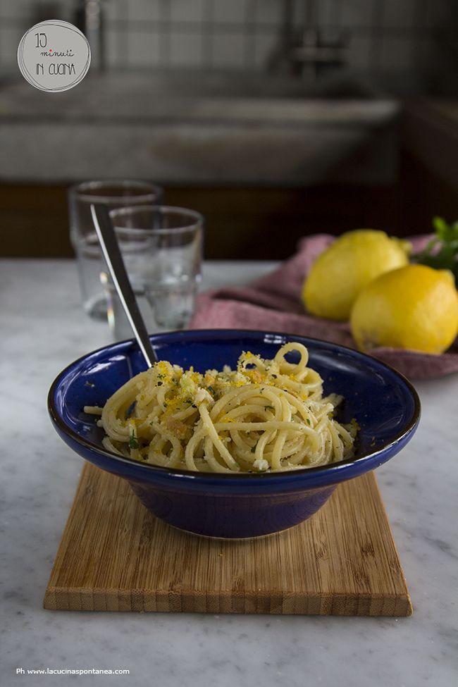 Primi piatti, ricette di pesce, primi piatti di pesce, spaghetti bottarga e briciole, 15 minuti in cucina