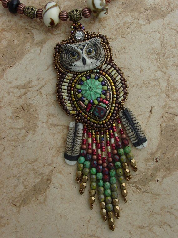 Flowing Owl Necklace by HeidiKummliDesigns on Etsy