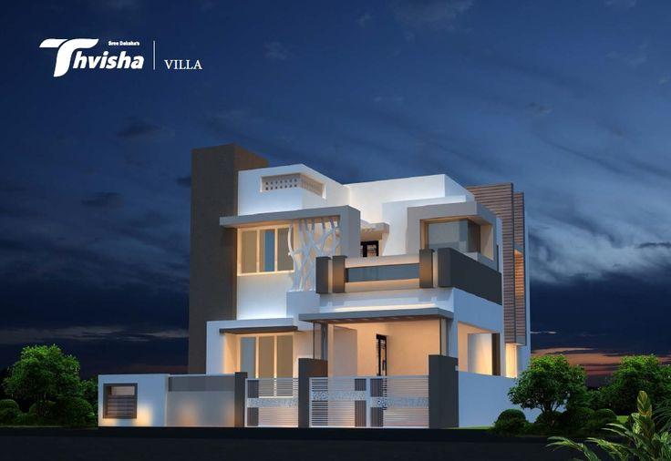 SreeDaksha's Thvisha - Villa elevation