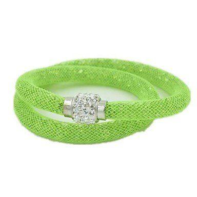 Trendy wikkelarmbanden in mooie groene kleur unieke ontwerp