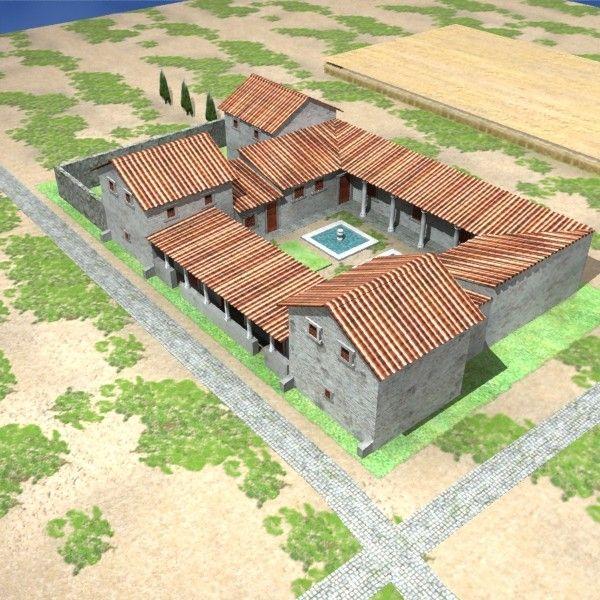 3d max roman villa rustica Roman house, Roman villa