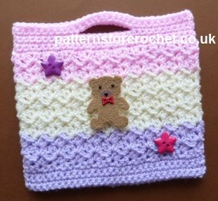 Crochet Little Girl's Bag Pattern, http://crochetjewel.com/?p=15680