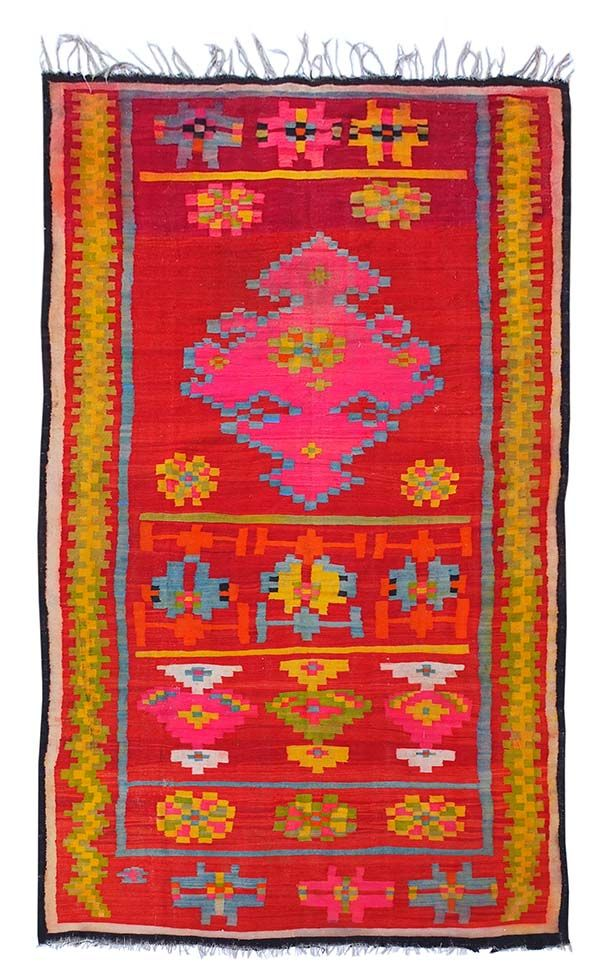 kira-cph.com. Colorful old Kilimrug, wellsuited for covering up a couch, a bed - or simply decorating the floor. See more at: www.kira-cph.com