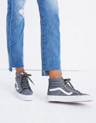 18ef9eb1f93e8c Vans® Unisex SK8-Hi Reissue High-Top Sneakers in Black Glitter ...