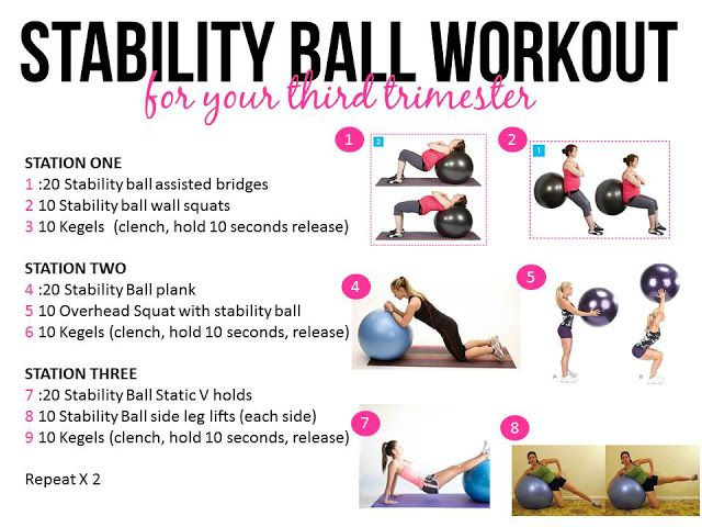 Stability balls are great during pregnancy, here is a stability ball workout for your third trimester!