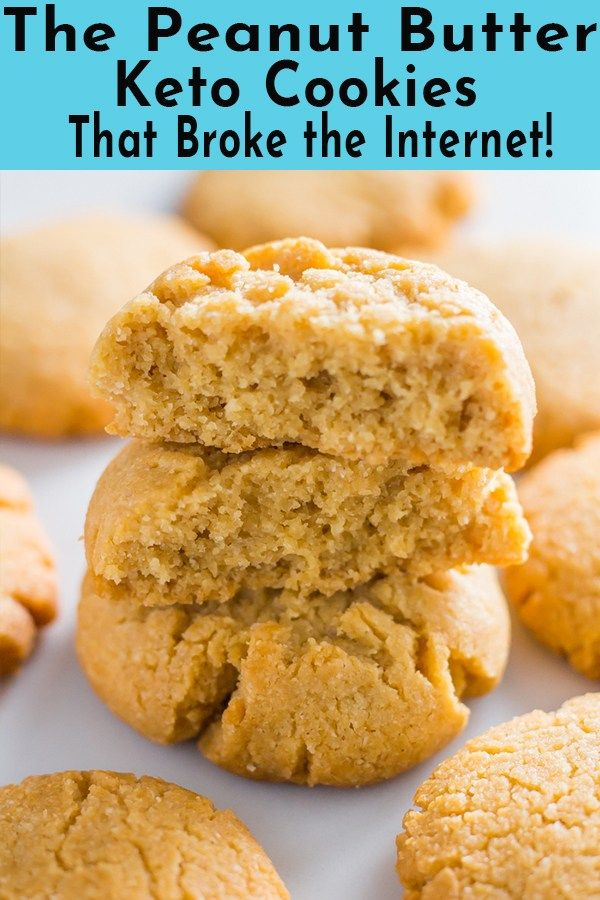 These 3 ingredient peanut butter keto cookies are soft and chewy, plus super eas...