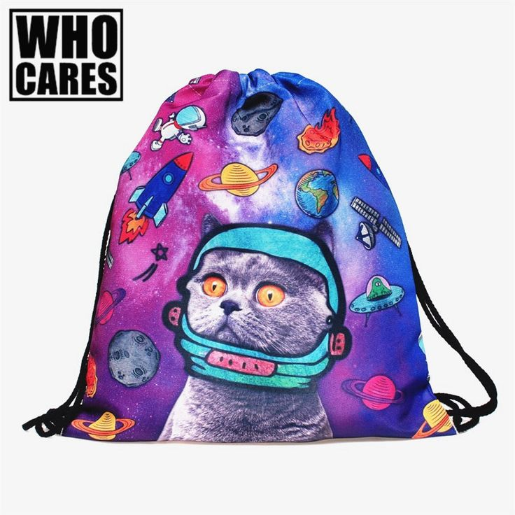 sac a dos Picture - More Detailed Picture about Space Cats 3D printing mini Backpack Women bags 2017 fashion drawstring bag mochila feminina Travel bag backpacks sac a dos Picture in Backpacks from who cares luggage & bags store | Aliexpress.com | Alibaba Group