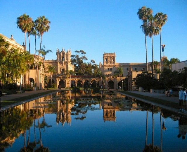 Balboa Park-perfect for a nice walk on a beautiful afternoon. Plenty of beautiful buildings, and on Tuesdays, free museums!