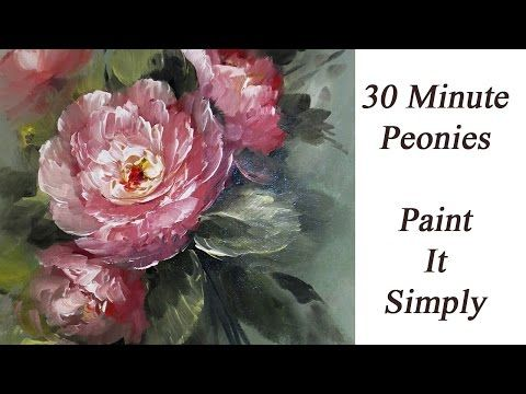 ▶ How to Paint 30 Minute Peonies- Paint It Simply - YouTube