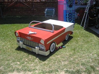 Cardboard Car ideas. Love this one for drive  in movie night.