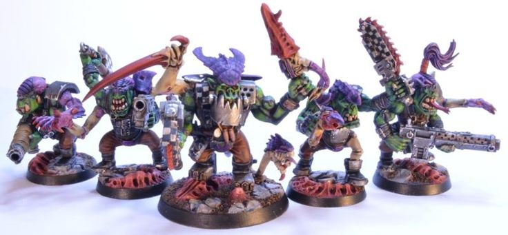 Genestealer, Ork Genestealers, Orks By Midget Gems