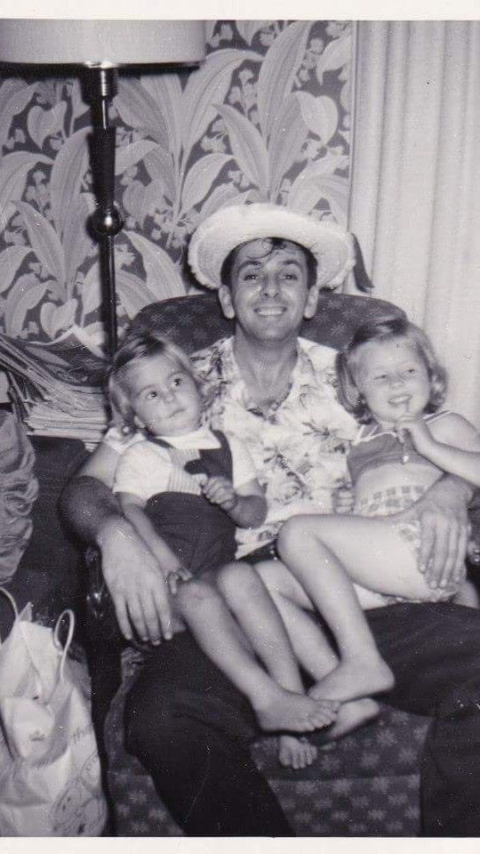 me with my Dad and sister Joan