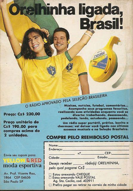 Propaganda do Rádio Orelhinha apresentado em 1986 - ano da Copa do Mundo no…