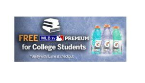 Free 2016 Subscription to MLB.TV Premium for College Students