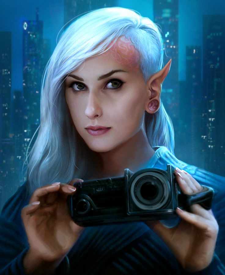 Elf Journalist from Shadowrun Online