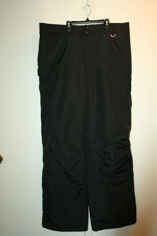 Mens Slalom ski snowboard pants black size XXL #Slalom