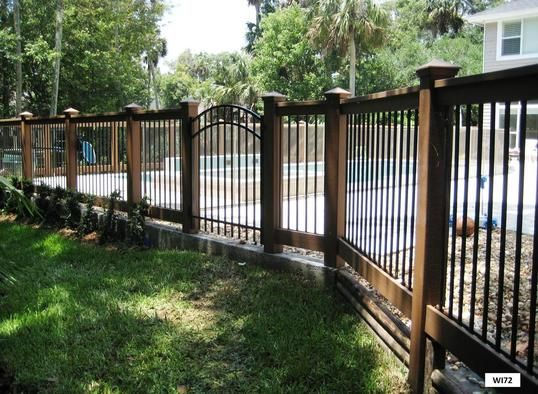 Iron and wood fence wrought gates fences railing
