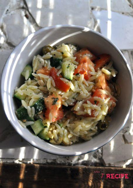 Salade crémeuse d'orzo | Creamy orzo salad - Miss-Recipe.com