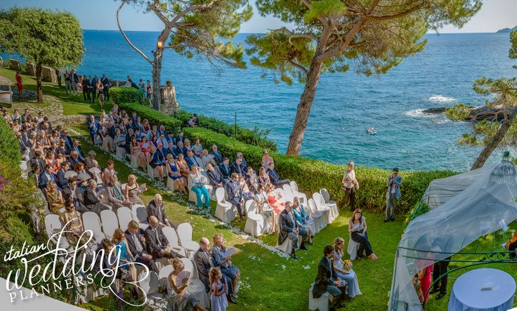 Romantic sea view Italian wedding ceremony
