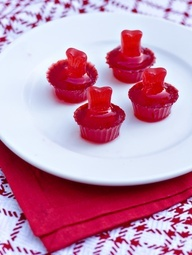 Swedish Fish flavored jello shots.. um yes please! My favorite candy and alcohol deadly but I cannot wait to try it!!!
