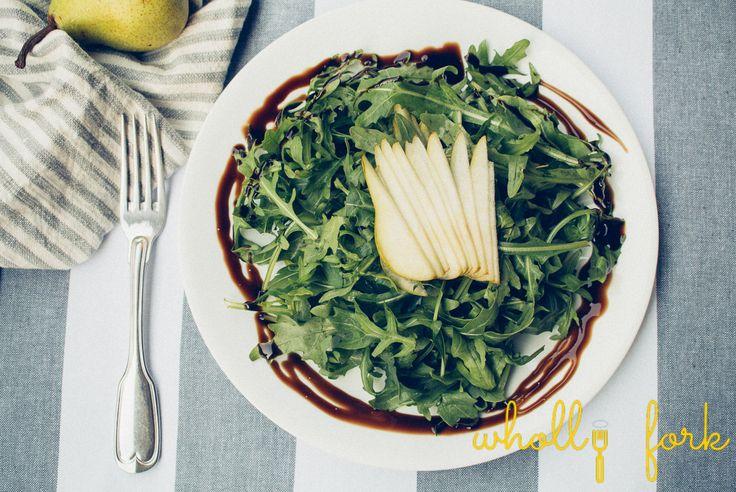 Arugula & pear salad