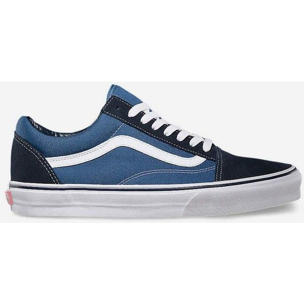 60d997d71ad Vans Old Skool Navy   White Shoes (75 CAD) ❤ liked on Polyvore featuring  men s fashion