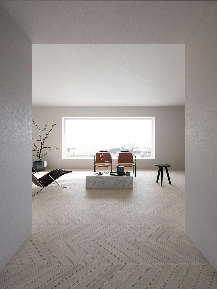 Minimal Apartment On Bechance Modern Interiors Minimalist Interiors Contemporary Interiors Mini Innenarchitektur Innenarchitektur Schlafzimmer Interieur