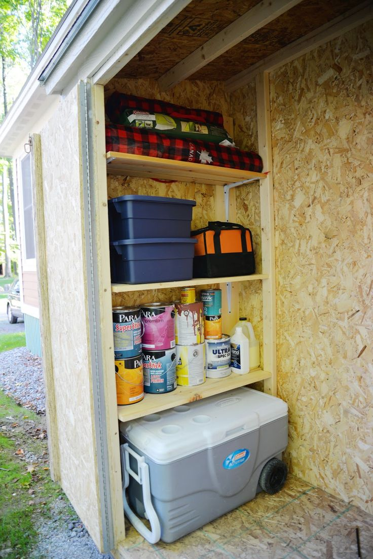 Cottages amp campground rentals riverview cottages campground jackman - Building A Storage Shed Part Ii Shed Organization Rambling Renovators