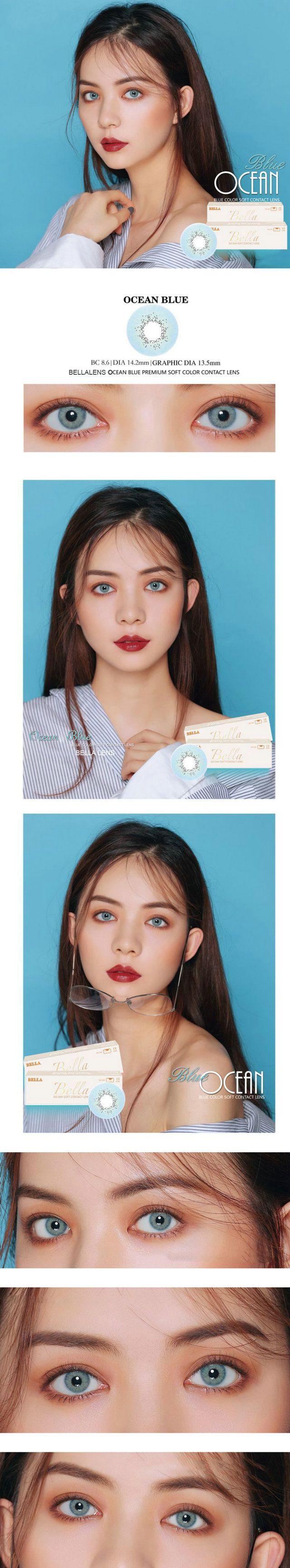 Color contact lenses online shop - 14 20mm Bella Ocean Contact Lens Color Blue 16 99 Contactlensdropshipping Com Online