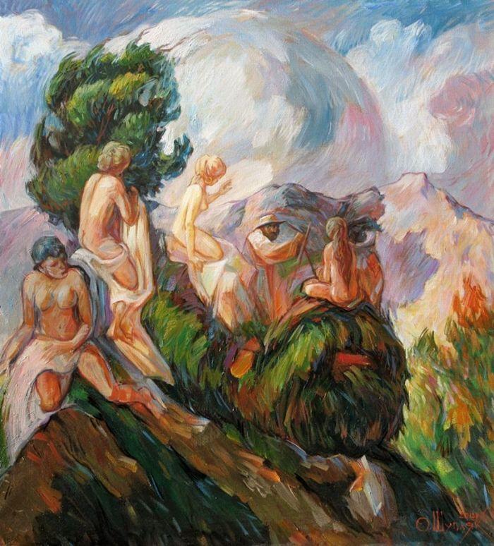 Portrait of Paul Cezanne by Oleg Shuplyak 2012 | Optical illusionist painter