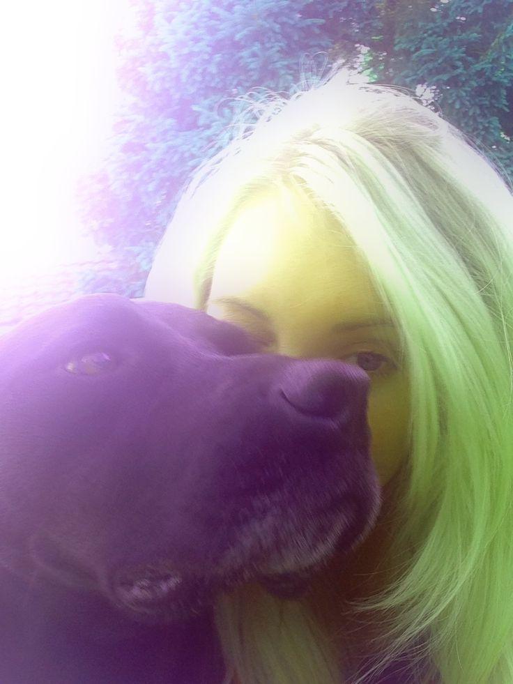 Playing around with photo editing- meet my purple dog :)