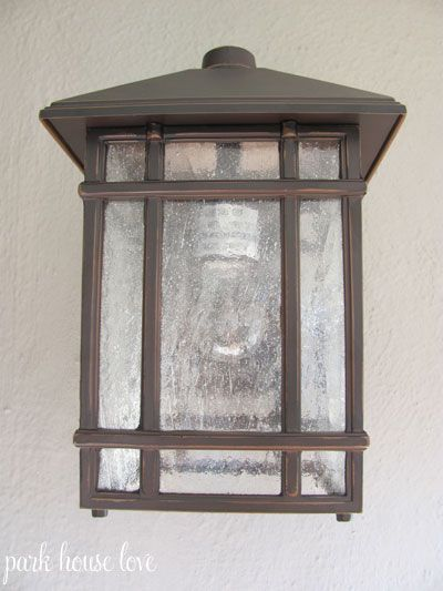 Remember when I showed you all our newly painted house exterior and  mentioned that we hadn't decided on a light fixture for the front porch  yet, ... - Best 25+ Craftsman Outdoor Lighting Ideas On Pinterest Garage