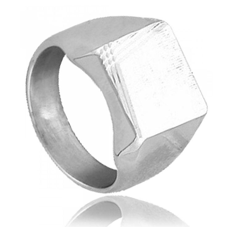 Man ring square time - Bijoux GL